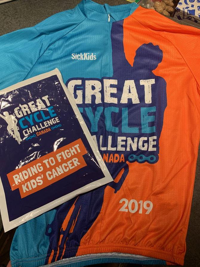 Great Cycle Challenge Bike Shirt has arrived!
