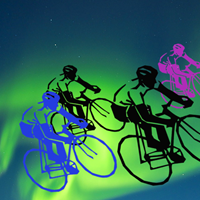 Northern Lights Cyclists