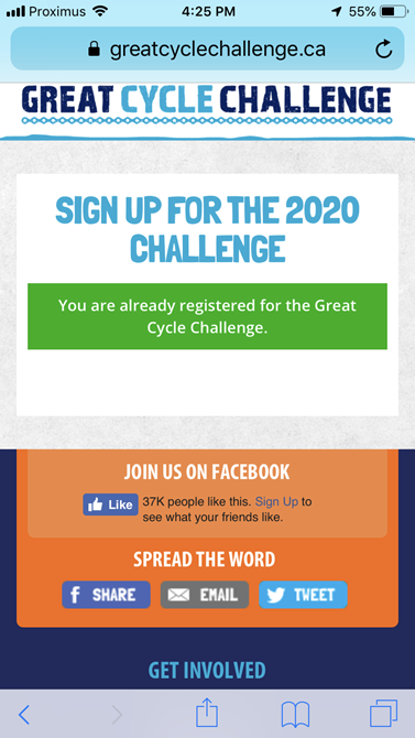 Great Cycle Challenge 2020